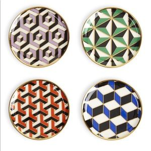 "Jonathan Adler ""Versailles"" porcelain coaster set."